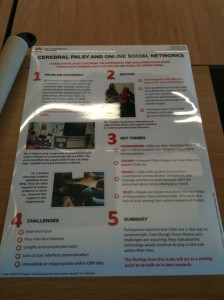 ASSETS10 Cerebral Palsy and Online Social Networks Poster