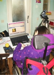 Interview Participant Using Social Media and Assistive Technology