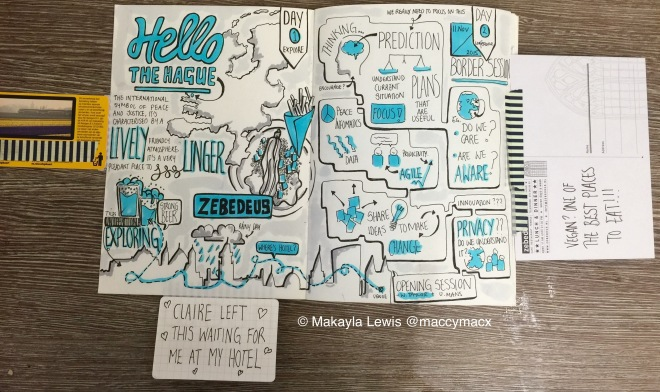 Sketchnote Travelogue: The Hague, Netherlands 10-13 November 2015