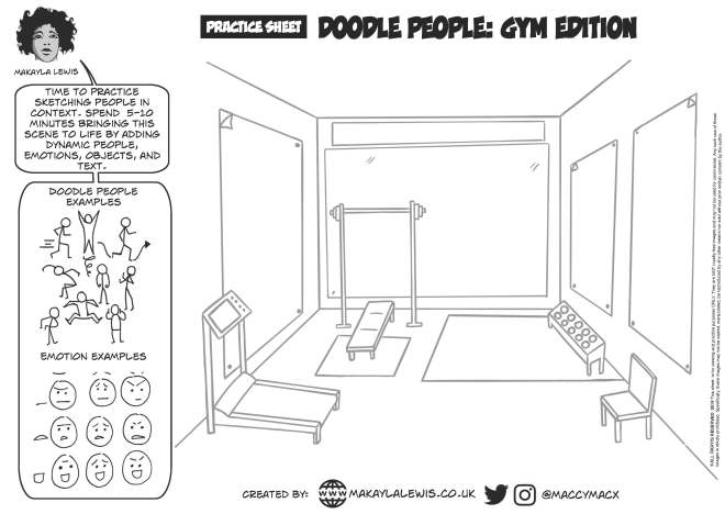 sketchnote-people-gym-practicesheet